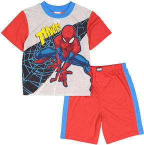 Spiderman Red & Gray 'Thwip!' Pajama Set - Boys