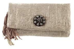 Lanvin Brocade Embellished Clutch