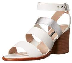 French Connection Womens Ciara Leather Open Toe Casual Ankle Strap Sandals.