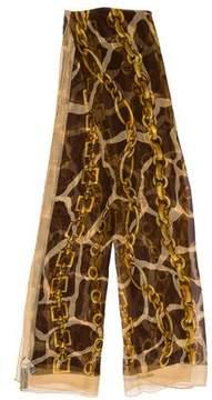 Dolce & Gabbana Silk Chain-Link Scarf