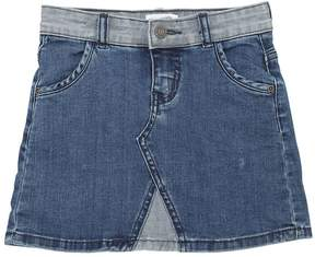 Molo Two Tone Stretch Cotton Denim Skirt