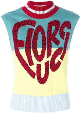 Fiorucci sleeveless logo sweater