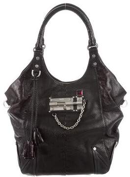 MCM Leather-Trimmed Python Bag