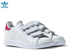 adidas White and Pink Infants Stan Smith