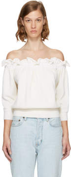 3.1 Phillip Lim White Ruffled Off-the-Shoulder Top