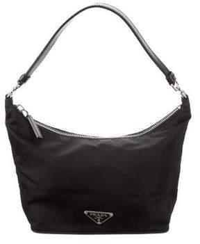 Prada Leather-Trimmed Tessuto Pochette