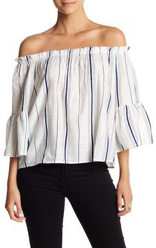 Angie Striped Off-the-Shoulder Blouse