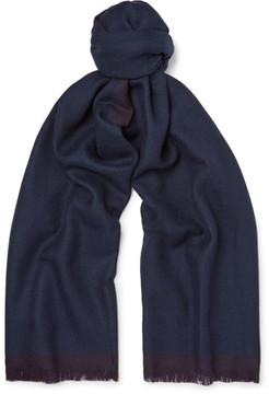Ermenegildo Zegna Fringed Two-Tone Wool Scarf