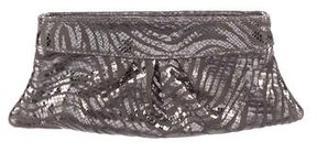 Lauren Merkin Metallic Suede Clutch