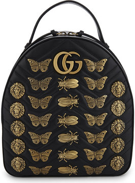 Gucci Moth leather backpack