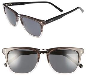 Ted Baker Men's 53Mm Polarized Sunglasses - Silver/ Black/ Tortoise