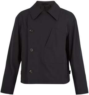 Lemaire Double-breasted wool and cotton-blend jacket