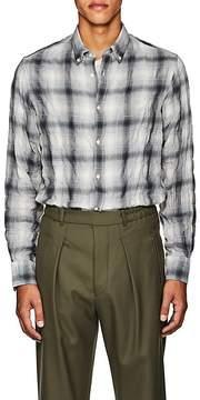 Officine Generale Men's Ombré Plaid Cotton-Blend Shirt
