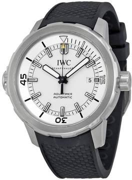 IWC Aquatimer Automatic Silver Dial Black Rubber Men's Watch