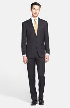 Canali Men's Classic Fit Solid Wool Suit