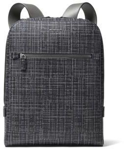 Michael Kors Patterned Leather Backpack