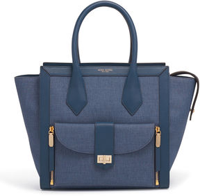 Henri Bendel Rivington Convertible Denim Tote