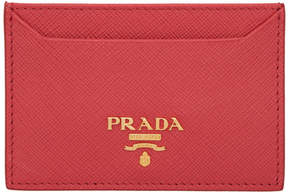 Prada Red Card Holder