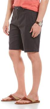 Roundtree & Yorke Big & Tall Flat Front Washed Cotton Shorts