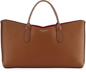 Sara Battaglia Horizontal Leather Tote Bag