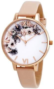 Olivia Burton Watercolour Florals White Dial Ladies Watch