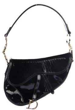 Christian Dior Diorissimo Embossed Saddle Bag