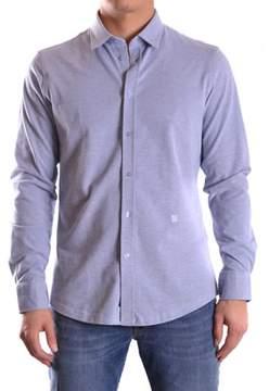 Dirk Bikkembergs Men's Light Blue Cotton Shirt.