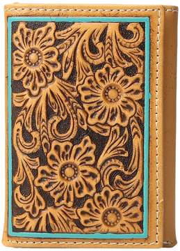 Ariat Trifold Turquoise Edge Wallet Wallet Handbags
