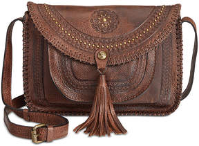 Patricia Nash Distressed Vintage Beaumont Flap Crossbody
