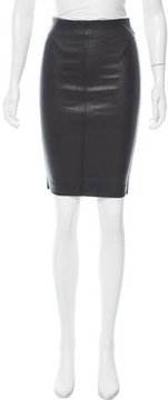 Pinko Ena Leather-Accented Skirt w/ Tags
