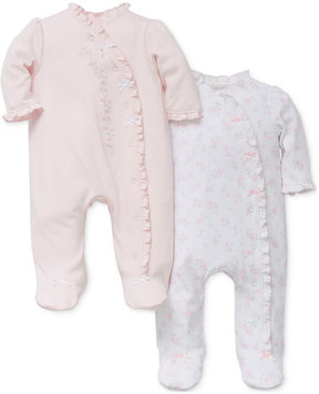 Little Me 2-Pk. Floral Footed Cotton Coveralls, Baby Girls (0-24 months)