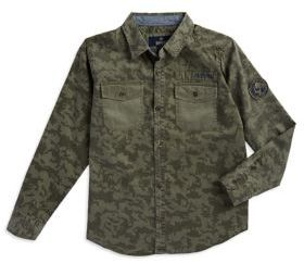 Buffalo David Bitton Boy's Camouflage Cotton Button-Down Shirt