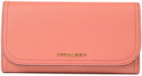 Burberry Mabanna Floral Leather Haymarket Continental Wallet - PINK & PURPLE - STYLE