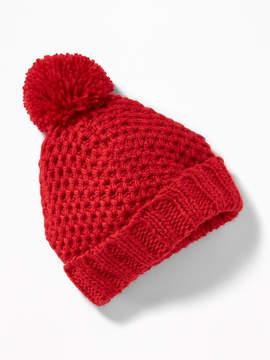 Old Navy Honeycomb-Knit Pom-Pom Beanie for Baby