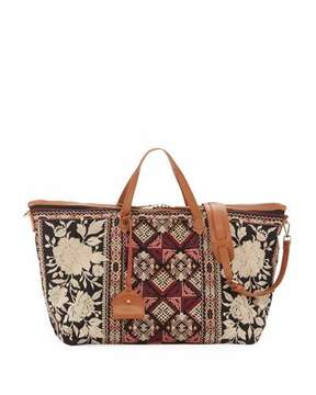 Johnny Was Embroidered Canvas Weekend Bag