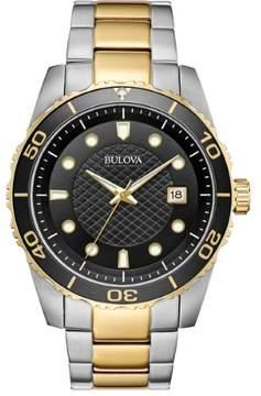 Bulova Sport Black Dial Two-tone Men's Watch 98A199