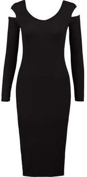 Enza Costa Cutout Ribbed Stretch-Jersey Midi Dress