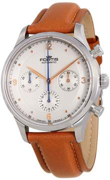 Fortis Terrestis Tycoon Chronograph a.m. Automatic Silver Dial Men's Watch