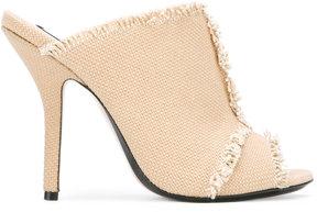 No.21 frayed trim sandals