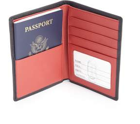 Royce Leather ROYCE RFID Blocking Bifold Passport Currency Travel Wallet Handcrafted in Genuine Black Leather