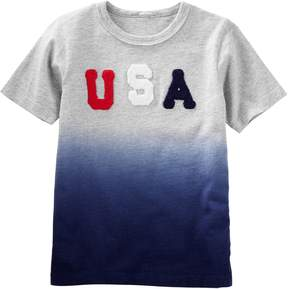Osh Kosh Oshkosh Bgosh Boys 4-12 USA Dip Dyed Top