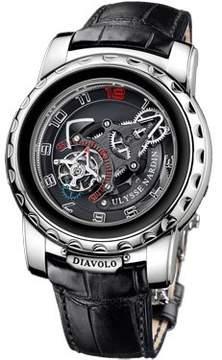 Ulysse Nardin Freak Diavolo Black Dial Alligator Leather Automatic Men's Watch