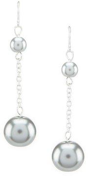 Cezanne Faux-Pearl Drop Earrings