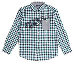 GUESS Boy's Long-Sleeve Gingham Logo Shirt (7-18)
