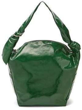 Isabel Marant Eewa Patent Leather Shoulder Bag - Womens - Green