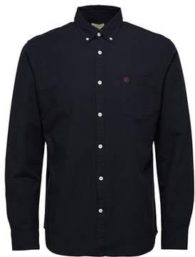 Selected Men's Black Cotton Shirt.