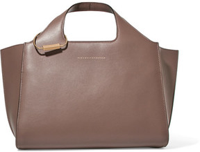 Victoria Beckham - Newspaper Leather Tote - Brown