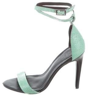 Tibi Leather Multistrap Sandals