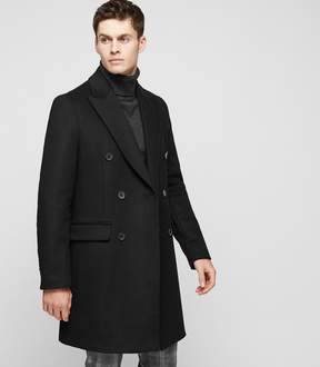 Reiss Francisco Cashmere Blend Double-Breasted Peacoat