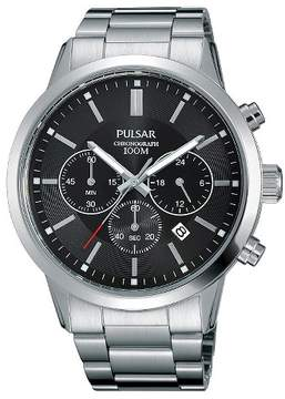 Pulsar Men's Everyday Value Chronograph - Silver Tone with Black Dial - PT3791X
